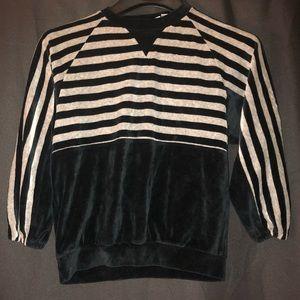 🌻 vintage velour velvet sweater shirt top